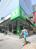 TD BANK IN NEW YORK Royalty Free Stock Photo
