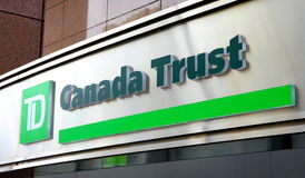TD Canda Trust Sign. A TD Canada Trust sign in Toronto Royalty Free Stock Photography