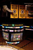 TD Garden Scoreboard. High above the garden ice Royalty Free Stock Image