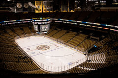 TD Garden, set up for Hockey. Stock Image