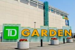 TD Garden Sign Stock Image