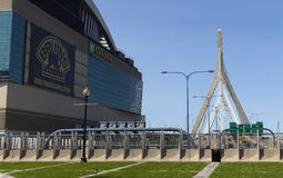 TD Garden and Zakim Bridge Royalty Free Stock Photo