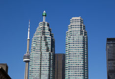 TD Towers and the CN Tower Royalty Free Stock Images