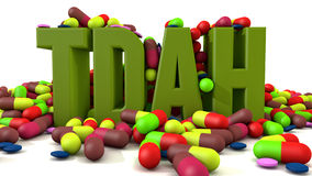 TDAH disorder. And drugs medicines royalty free illustration
