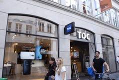 TDC ENTLASSEN 800 PERSÖNLICHE Stockbilder