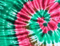 Teñido anudado abstracto del diseño del remolino en la tela imágenes de archivo libres de regalías