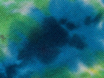 Teñido anudado azul Fotos de archivo libres de regalías