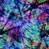 Teñido anudado Spike Print de la explosión del color stock de ilustración