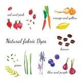 Teñido de la tela natural stock de ilustración