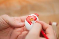 Teñido del huevo de Pascua Foto de archivo