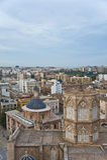 Te大教堂在巴伦西亚的市中心。 免版税库存照片