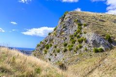 Te末多峰顶在新西兰 免版税库存照片