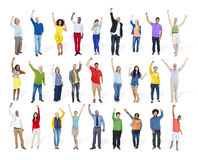 Πολυ-εθνική ενότητα Te ενότητας παραλλαγής έθνους ποικιλομορφίας Στοκ Εικόνα