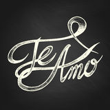 Te Amo -我爱你-词组 库存图片