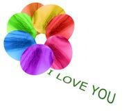 Te amo. Foto de archivo libre de regalías