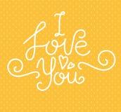Te amo Foto de archivo libre de regalías