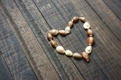 Te amo, cáscara, forma del corazón, día de San Valentín Imágenes de archivo libres de regalías