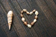 Te amo, cáscara, forma del corazón, día de San Valentín Fotografía de archivo libre de regalías