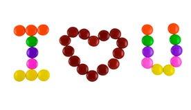 Te amo caramelo Imagen de archivo libre de regalías