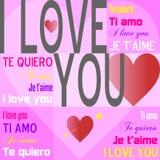 Te amo [color de rosa] Imagen de archivo libre de regalías