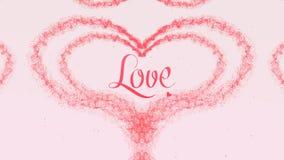 Te amo confesi?n del amor Coraz?n del d?a de tarjeta del d?a de San Valent?n hecho del chapoteo rosado color de rosa aislado en f fotos de archivo