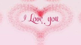 Te amo confesi?n del amor El coraz?n del d?a de tarjeta del d?a de San Valent?n hizo de chapoteo rosado est? apareciendo r libre illustration