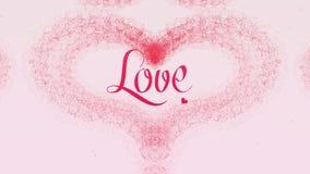 Te amo confesi?n del amor El coraz?n del d?a de tarjeta del d?a de San Valent?n hizo de chapoteo rosado est? apareciendo r ilustración del vector