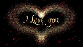 Te amo confesi?n del amor El coraz?n del d?a de tarjeta del d?a de San Valent?n hizo del chapoteo del vino tinto aislado en el fo ilustración del vector