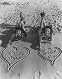 Te amo en inglés y español Imagen de archivo
