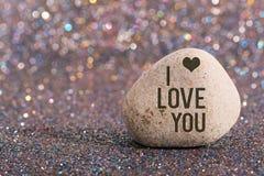 Te amo en piedra Imágenes de archivo libres de regalías