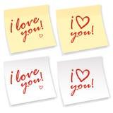 Te amo etiqueta engomada Imagen de archivo libre de regalías