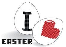 Te amo huevos del pixel Fotografía de archivo libre de regalías