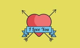 Te amo icono plano Fotografía de archivo
