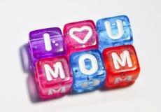 Te amo mamá - el día de madre feliz Fotografía de archivo