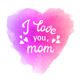 Te amo mama Tarjeta de felicitación con los corazones libre illustration