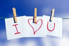 Te amo - mensaje Fotografía de archivo libre de regalías