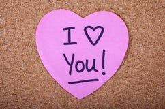 Te amo mensaje Fotos de archivo