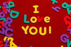 Te amo mensaje Imagen de archivo