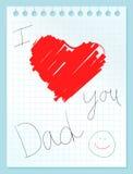 Te amo papá stock de ilustración