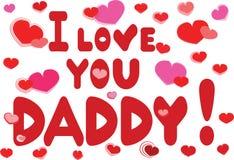 Te amo papá Imagen de archivo libre de regalías