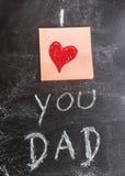 Te amo papá ilustración del vector