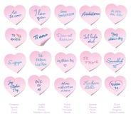 Te amo post-it Imagen de archivo libre de regalías