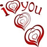 Te amo. símbolo del corazón Foto de archivo libre de regalías