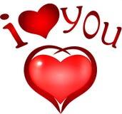 Te amo. símbolo del corazón Fotografía de archivo libre de regalías