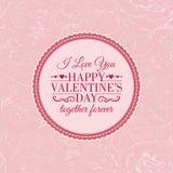 Te amo tarjeta. Imagen de archivo libre de regalías