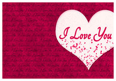 Te amo tarjeta de felicitación Imagen de archivo