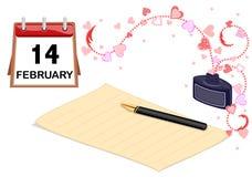 Te amo tarjeta en tarjeta del día de San Valentín del santo Fotos de archivo libres de regalías