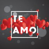 Te Amo Vector Background royaltyfri illustrationer