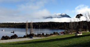 Te Anau Downs at Lake Te Anau Stock Photo