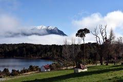 Te Anau Downs at Lake Te Anau Royalty Free Stock Photo